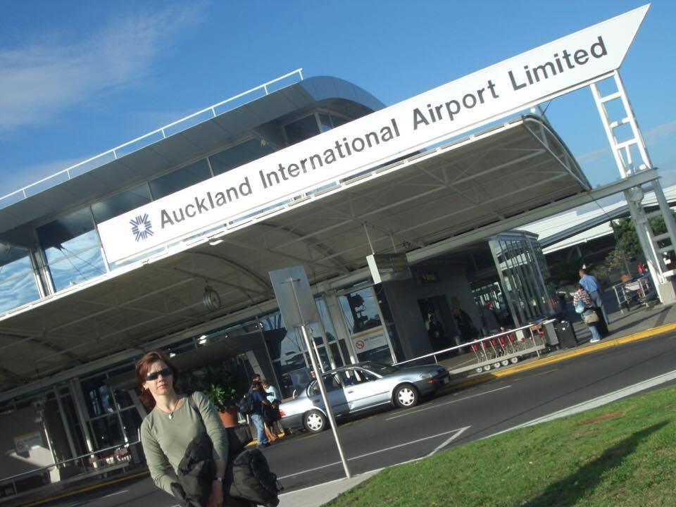 Chegada a Auckland